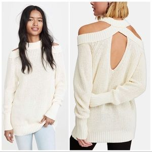 Free People Cream Half Moon Bay Pullover Sweater
